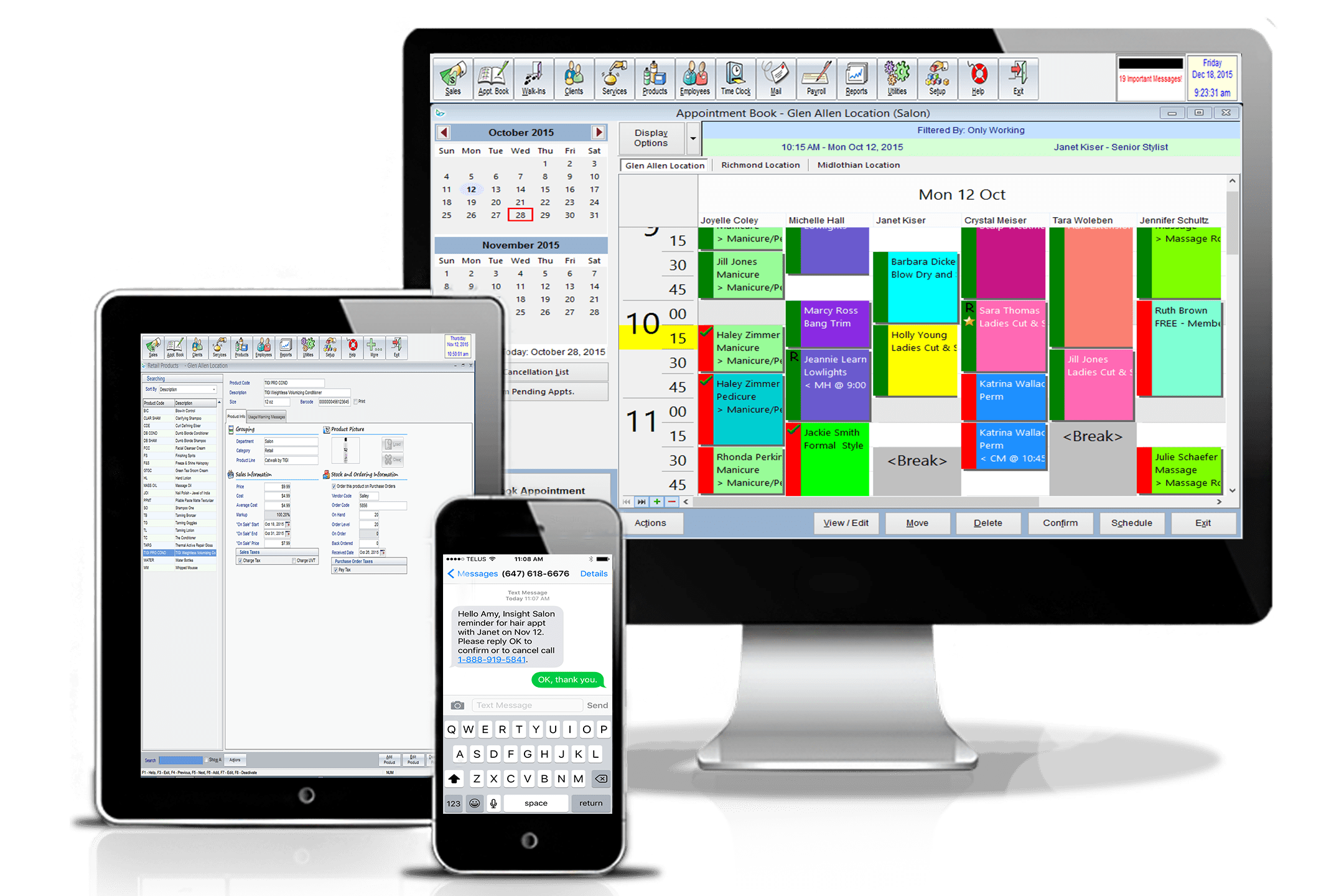 online booking appointment book salon management software