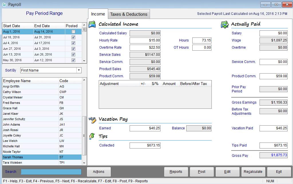 Payroll-Income